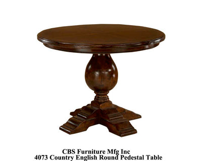 4073 COUNTRY ENGLISH ROUND PEDESTAL DINING TABLE