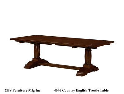 4046 COUNTRY ENGLISH TRESTLE DINING TABLE