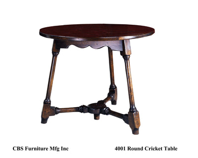 4001 ROUND CRICKET END TABLE