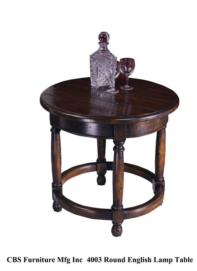 4003 ROUND ENGLISH LAMP END TABLE
