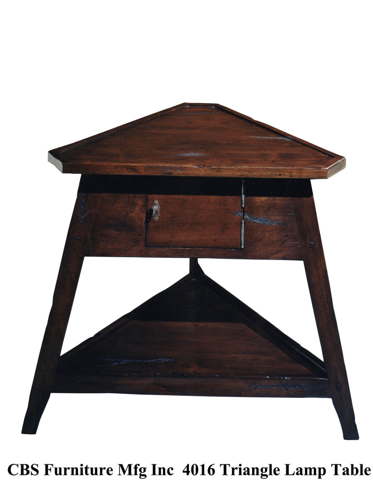 4016 TRIANGLE LAMP END TABLE
