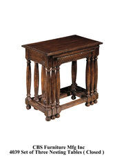 4039 SET OF THREE NESTING END TABLES