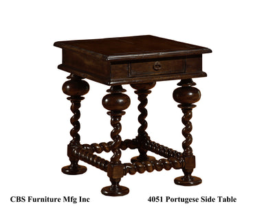 4051 PORTUGUESE SIDE END TABLE