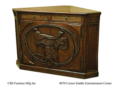 4070 CORNER SADDLE ENTERTAINMENT CENTER