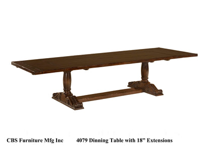 "4079 DINING TABLE WITH 18"" EXTENSIONS"