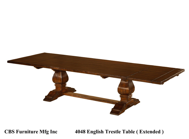 4048 ENGLISH TRESTLE DINING TABLE