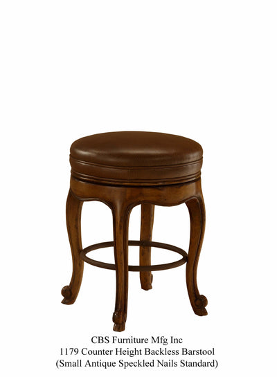 1179 COUNTER HEIGHT BACKLESS BARSTOOL