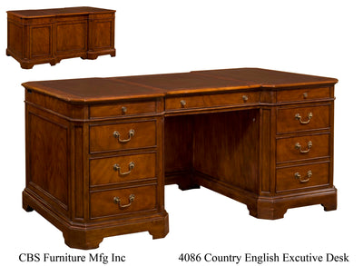 4086 COUNTRY ENGLISH EXECUTIVE DESK