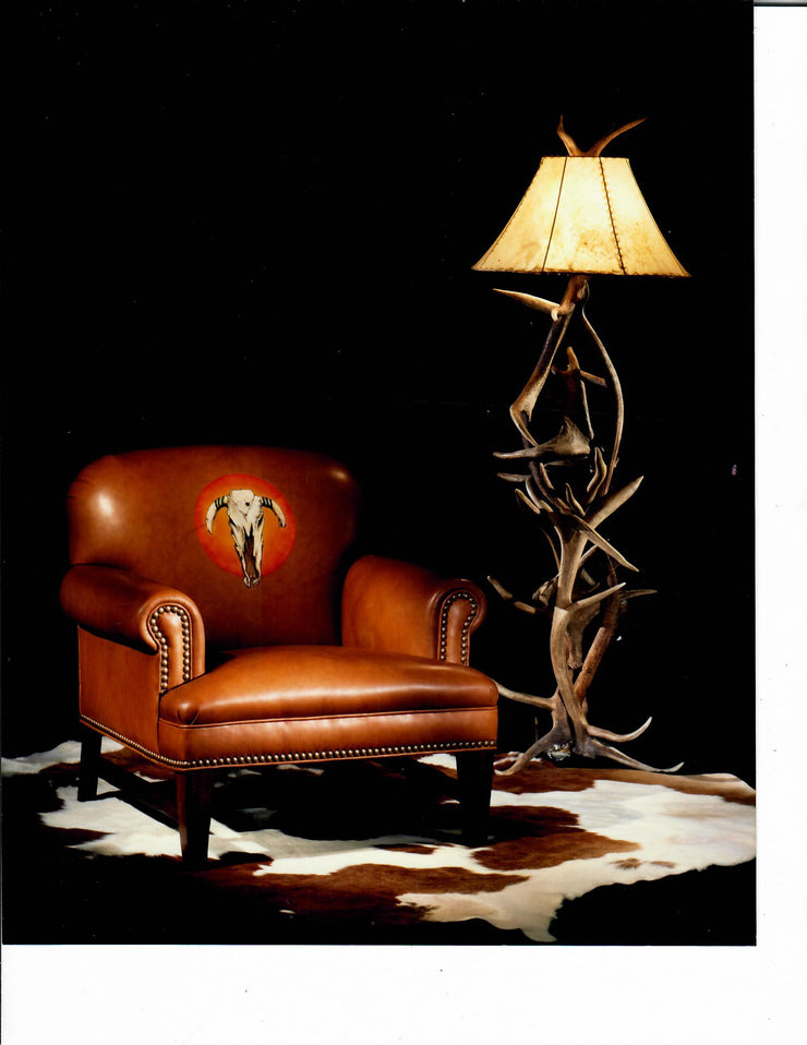 COW SKULL BACK CHAIR