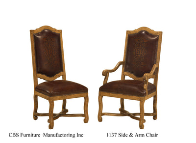 1137 SIDE & ARM CHAIR