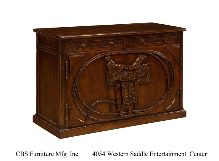 4054 WESTERN SADDLE ENTERTAINMENT CENTER