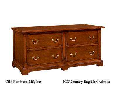 4085 COUNTRY ENGLISH CREDENZA