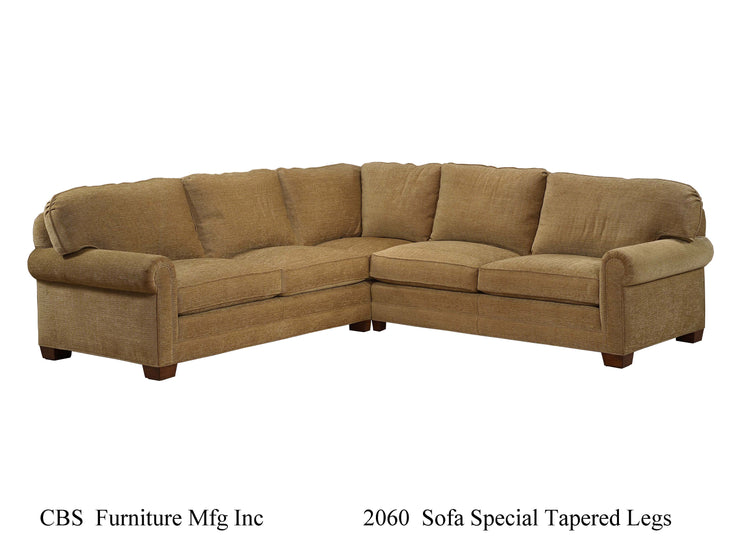 2060 SOFA SPECIAL TAPERED LEGS