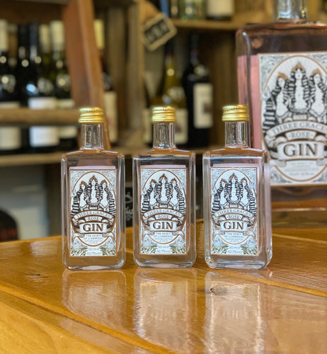 The Three Graces Rose Gin 42.7% 5cl Miniature Bottle