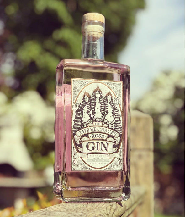 The Three Graces Rose Gin 42.7% 70cl Bottle