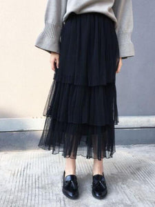 Fashion Elegant Casual Loose Ruffled High Waist Long Skirt