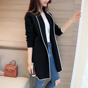 Pure Color Fashion Lapel With Loose Long Sleeve Coat