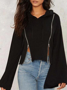 Fashion Zipper Long Sleeve Hoodie