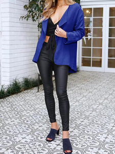 Short Fashion Solid Color Cardigan Jacket