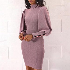 Fashion Lantern Sleeves And Hips Dress