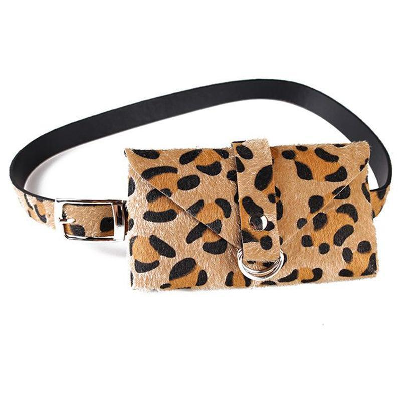 Chic Leopard-Print Decorative Detachable Decorative Belt Pocket