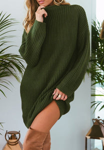 Pure Color Fashion Is Loose In The Long Casual Sweater