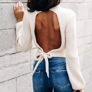 Fashion Bare Back Top