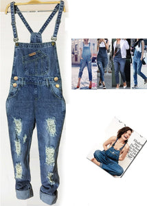 Joker Made Old Hole Denim Overalls