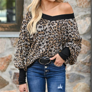 Fashion Leopard Print Long Sleeve T Shirt