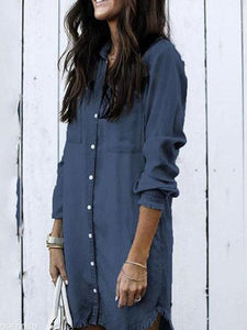 Fashion Tassel Denim Shirt