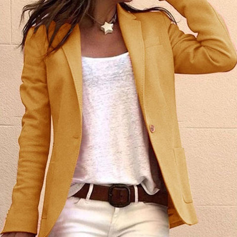 Fashion Casual Lapel Long Sleeves Blazer