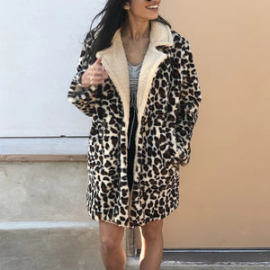 European And American Style Leopard Print Cotton Dress&Overcoat &Down Jacket
