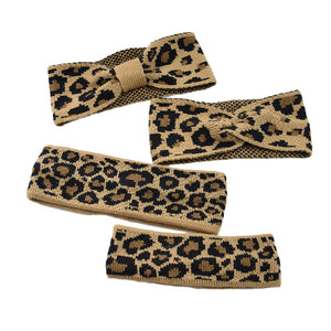 Vintage Leopard Knit Wool Fahion Hair Band