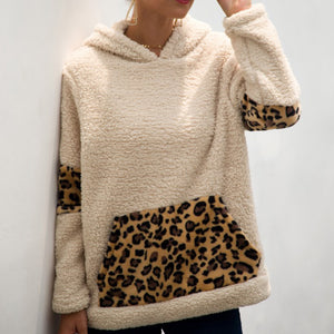 Fashion Casual Hooded Leopard Hoodies