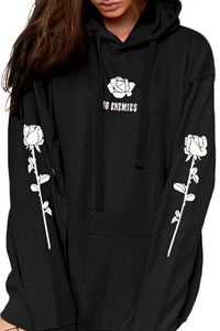 Hooded  Drawstring  Printed Hoodies