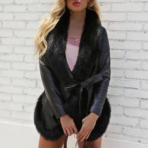 Fashion Faux Fur Leather Jacket