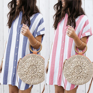 Striped Casual Shirt Dresses