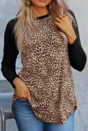 Round Neck  Leopard Printed T-Shirts