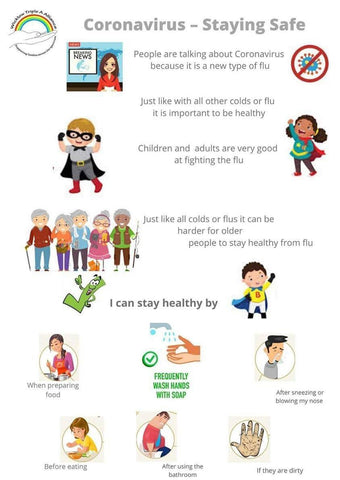 Image for children about staying safe during the Coronavirus outbreak