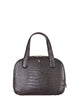 Yara Bashoor Adam Tote Handbag Black Yellow Gold Genuine American Alligator Front View