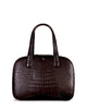 YB Genuine American Alligator Bag Tote Croco Bag Front Black Matte