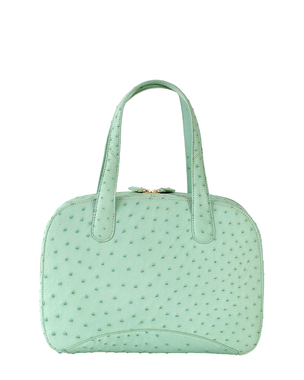 Yara Bashoor Charles Tote Handbag Seafoam Green Yellow Gold Back View