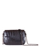 Yara Bashoor Edgar Shoulder Handbag Black Gunmetal Silver Genuine American Alligator Front View