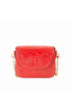 Genuine American Alligator Crocodile Crossbody Classic Shiny Red Yara Bashoor Front View