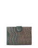 YB Joey Clutch Matte Green Dark Brown Alligator Yara Bashoor Front View