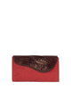 DARK RED ALLIGATOR OSTRICH OSCAR CLUTCH YELLOW GOLD YARA BASHOOR FRONT VIEW