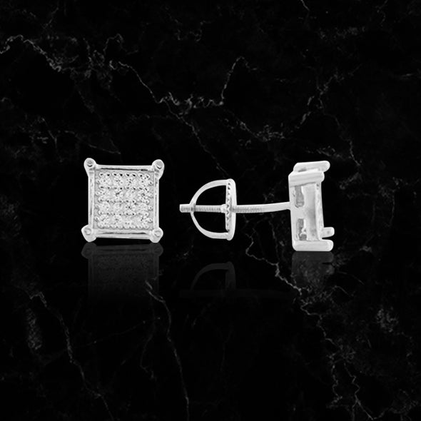 ESSENTIAL SQUARES // WHITE GOLD EARRINGS