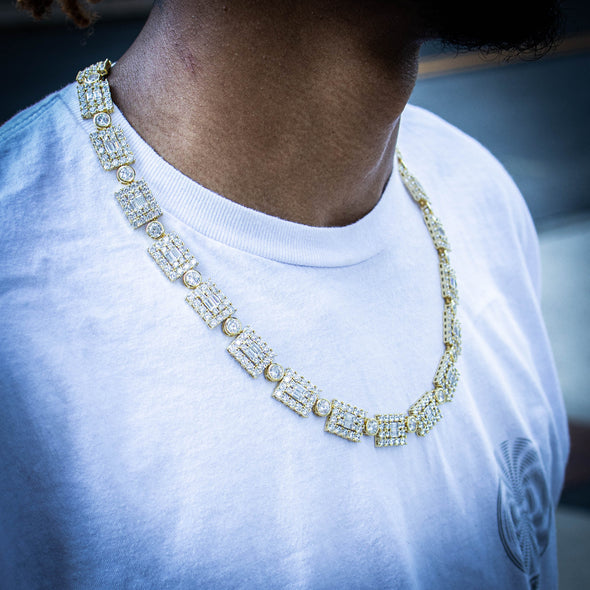 THE GEO CHAIN // YELLOW GOLD 14MM