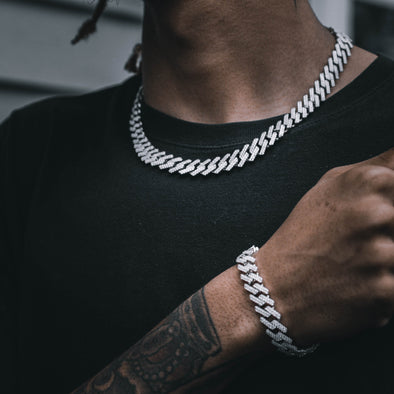 12MM ICED FRIGID CUBAN CHAIN IN WHITE GOLD