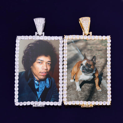 CUSTOM RECTANGULAR PHOTO PENDANT NECKLACE